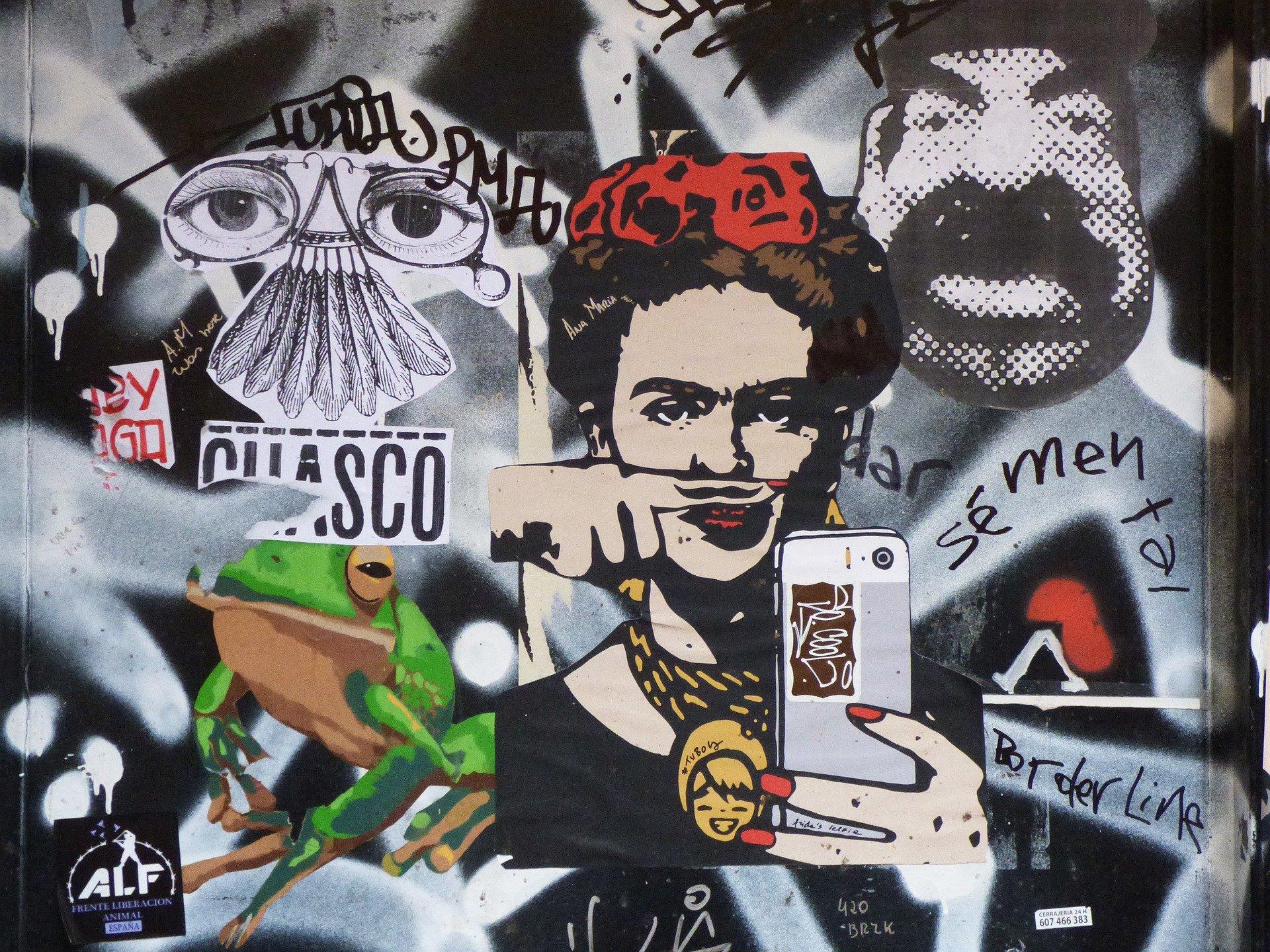 Urban Art Moodboard Collage